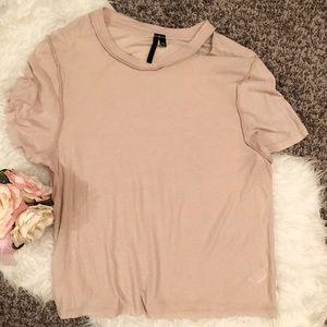 Size 8 Topshop boutique cream colored shirt
